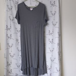 Lularoe Carly solid gray